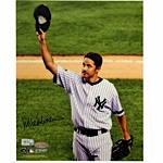 Mike Mussina Yankees Pinstripe Jersey 2008 Tipping Cap Vertical 8x10 Photo (MLB Auth)